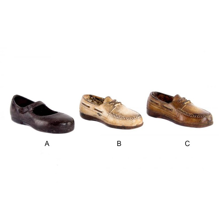 Zapato para decoración de resina (15x5 cm) envejecido 3 modelos