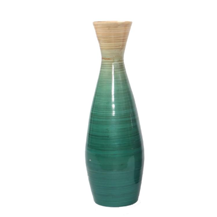 Jarrón Bambú Azul 19x59 cm