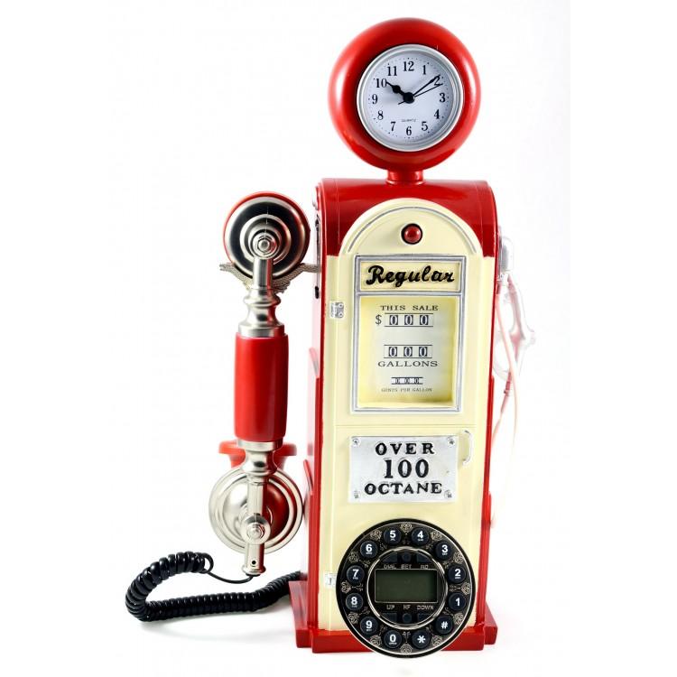 Teléfono con forma de surtidor antiguo - Diseño Vintage - Edición Deluxe - Hogar y más