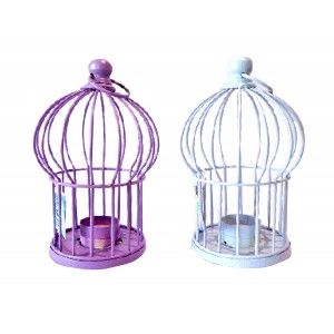 Metal cage to decorate (13x23 cm) 2 colors