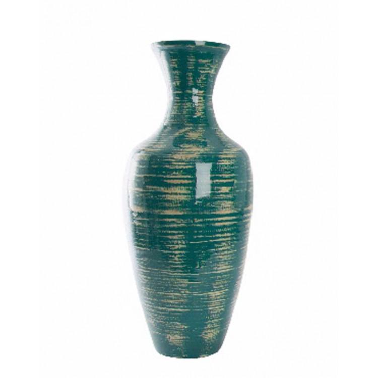 Jarrón de Bambú (30x70 cm) azul envejecido