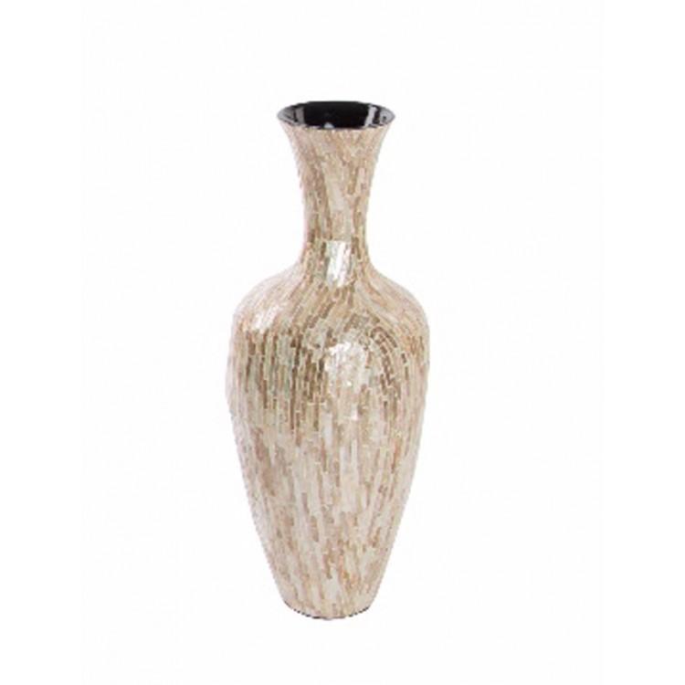 Jarrón de Bambú Nacarado (25x63 cm)
