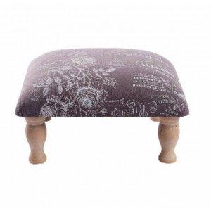 Furniture Descalzador of Wood and Cloth (34x34x19 cm)