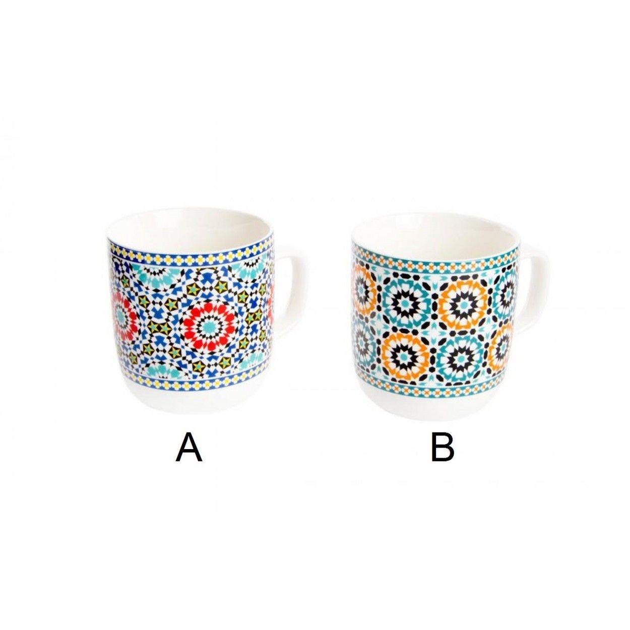 Taza De Porcelana Modelo Tnico Hogar Y M S