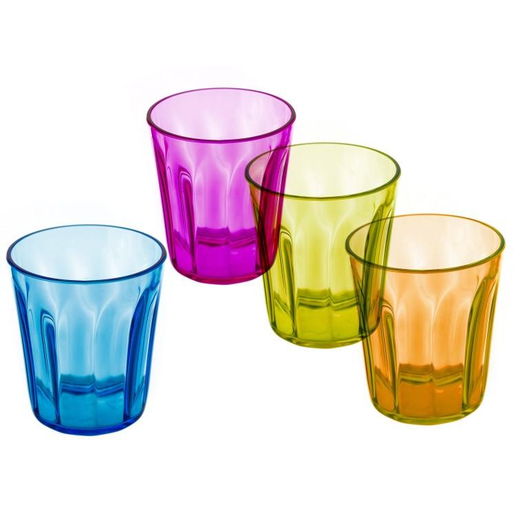 Vaso original colorido de poliestireno set de cuatro - Vasos de colores ...