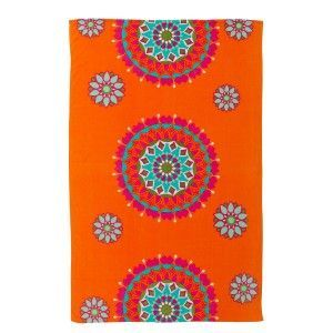 Beach towel - orange- Model ethnic (100x150 cm)