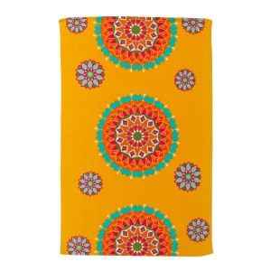 Beach towel ochre - Model ethnic (100x150 cm)