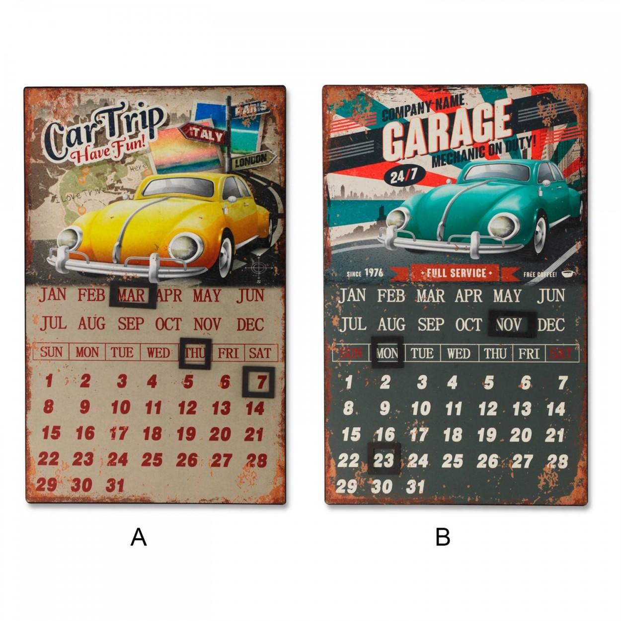 Placas calendario de metal para pared 40x25 5 cm 2 - Placas de vinilo para paredes ...