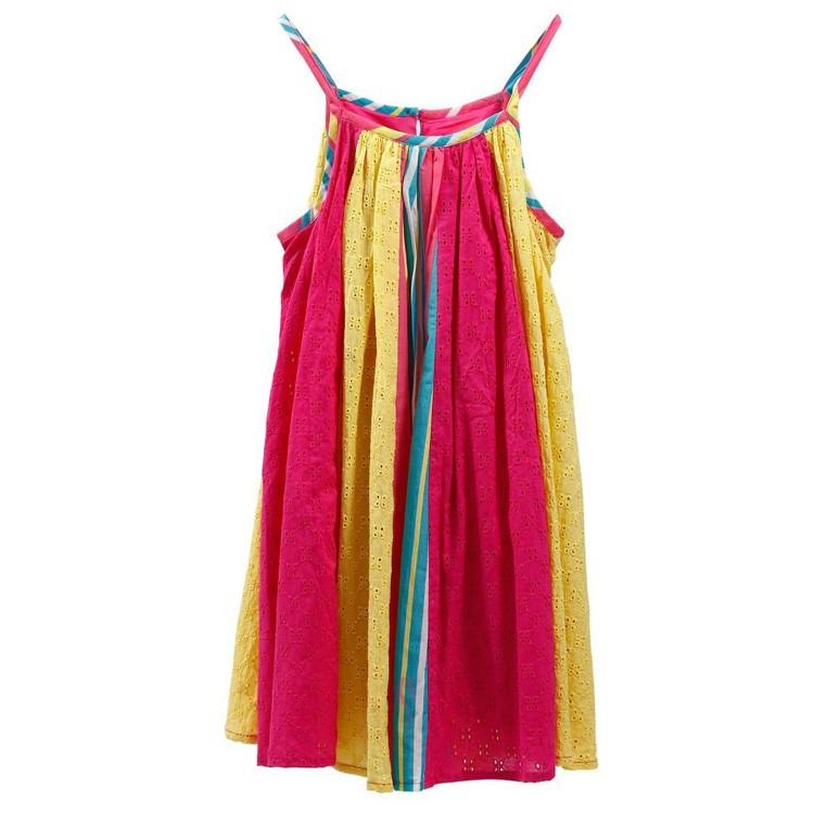 Vestido 100% Algodón Happy de Colores para niña (Talla 4,6,8,10)