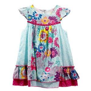 Vestido de Flores para niña (Tallas 12,18,24,36 meses