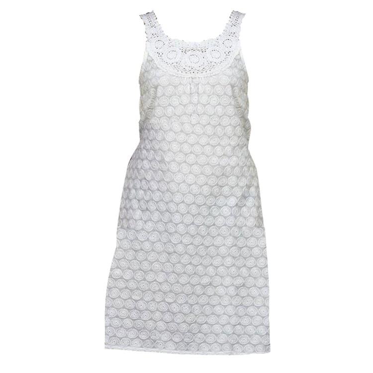 Vestido Rueca de color Blanco de 100% Algodón (Tallas S,M,L,XL)