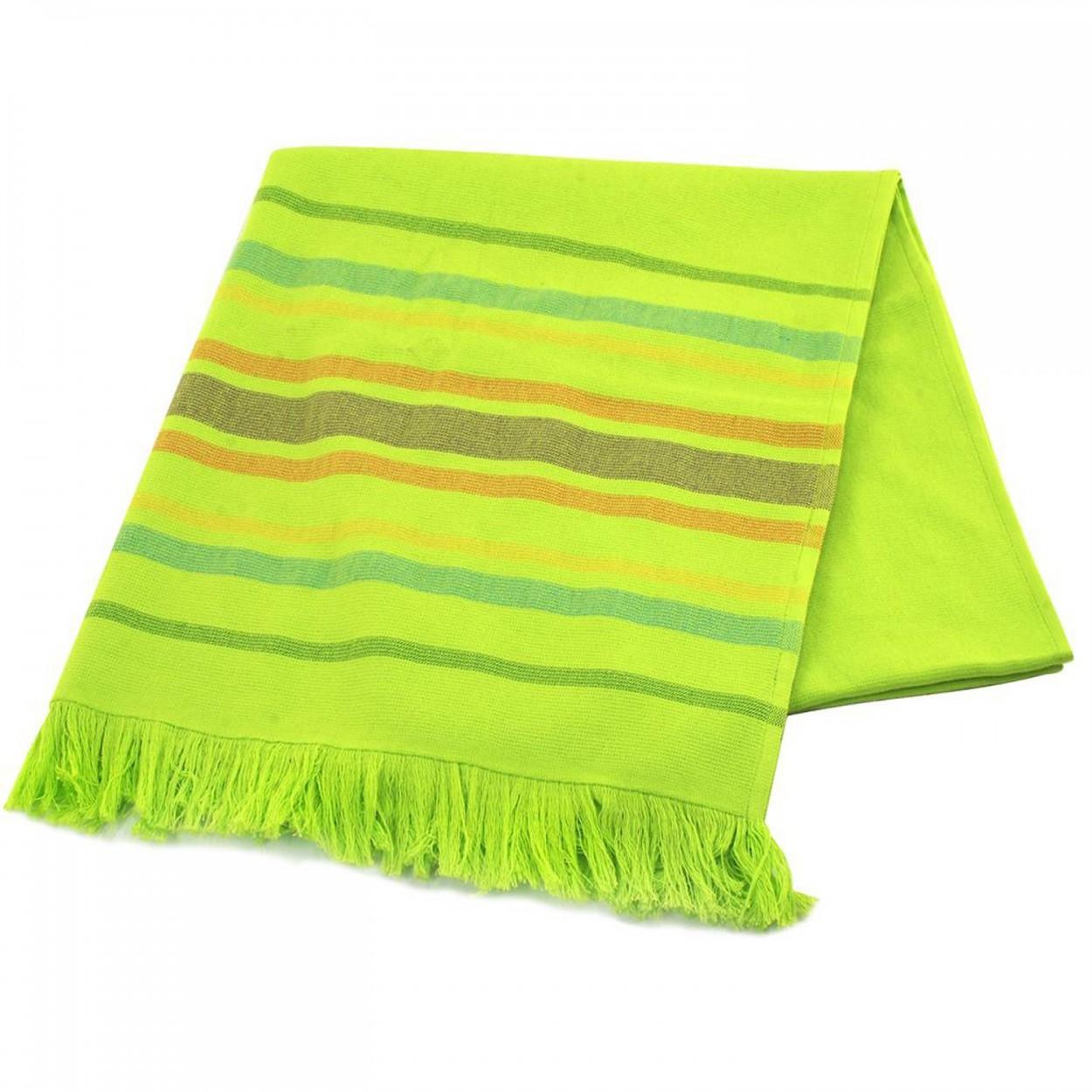 Toalla de algod n y poli ster pestemal de color verde hogar y m s - Toallas de algodon ...