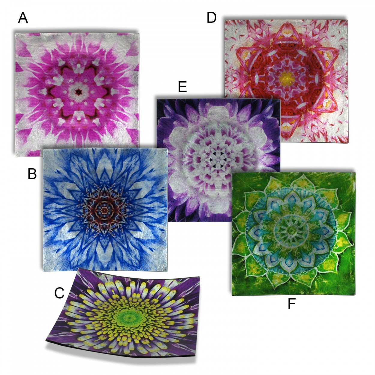 Platos cuadrados decorativos 19x19 cm 6 modelos hogar - Platos decorativos pared ...