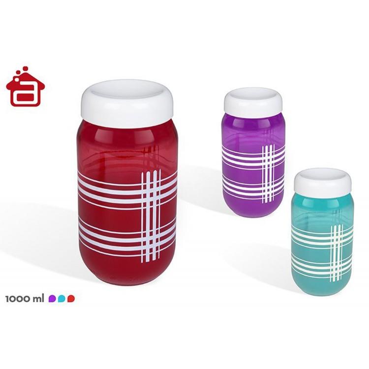 Tarro de cristal de colores (1L)