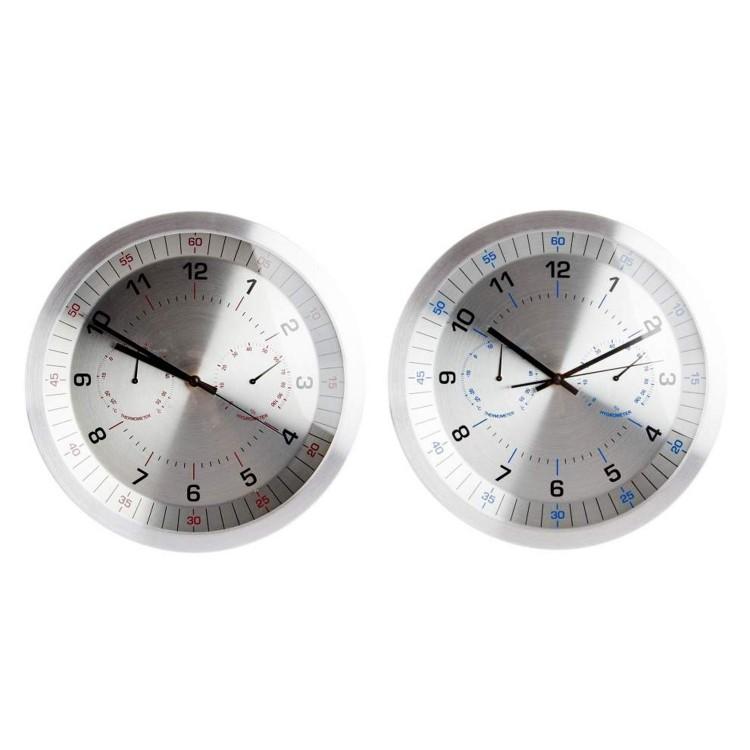 Reloj de pared con termómetro (35x4)