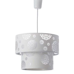 Ceiling lamp-white polyester (30x30x23cm)