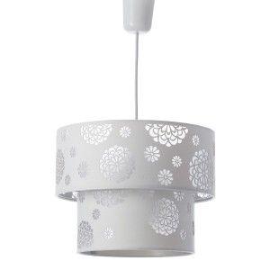 Lámpara de techo blanco poliester (30x30x23cm)