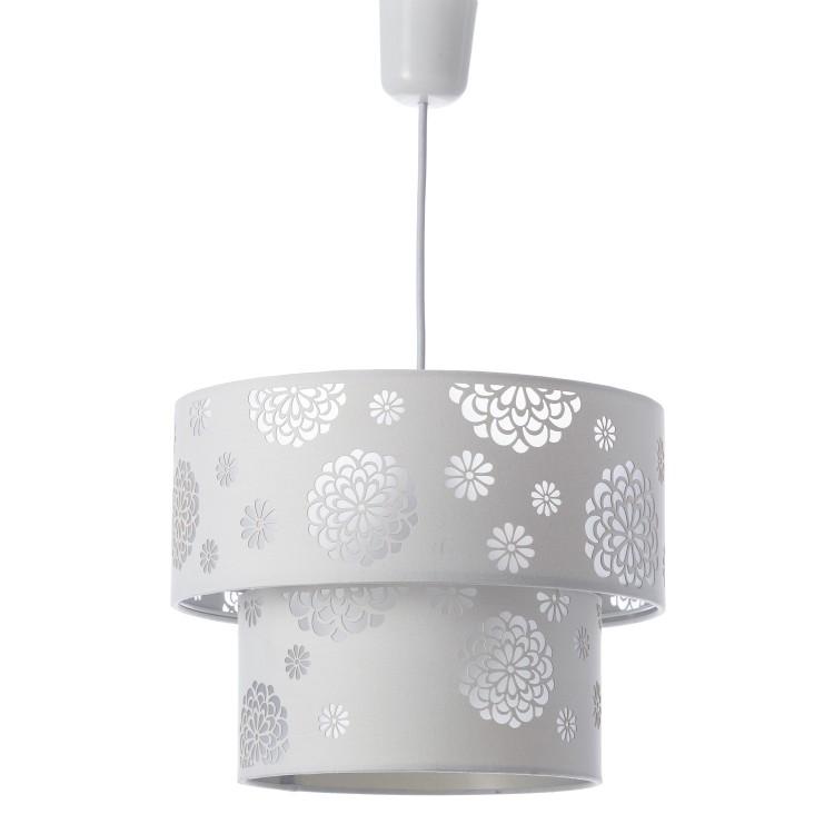 Lámpara de techo blanco poliester y PVC (30x30x23cm)