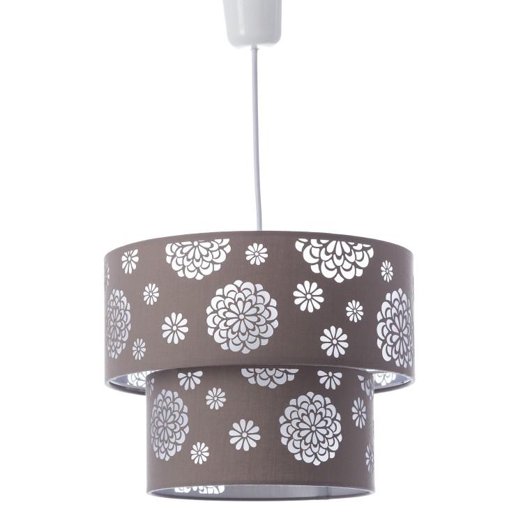 Lámpara de techo beige poliester/PVC (30x30x23cm)