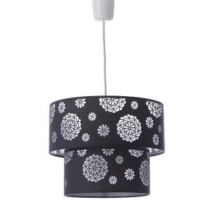 Lámpara de techo gris poliester/PVC (30x30x23cm)