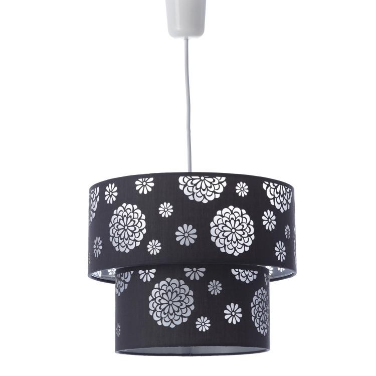 Lámpara de techo gris poliester/PVC, Hogar y Mas