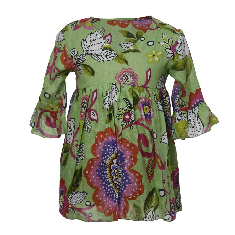 Vestido verde talla 6