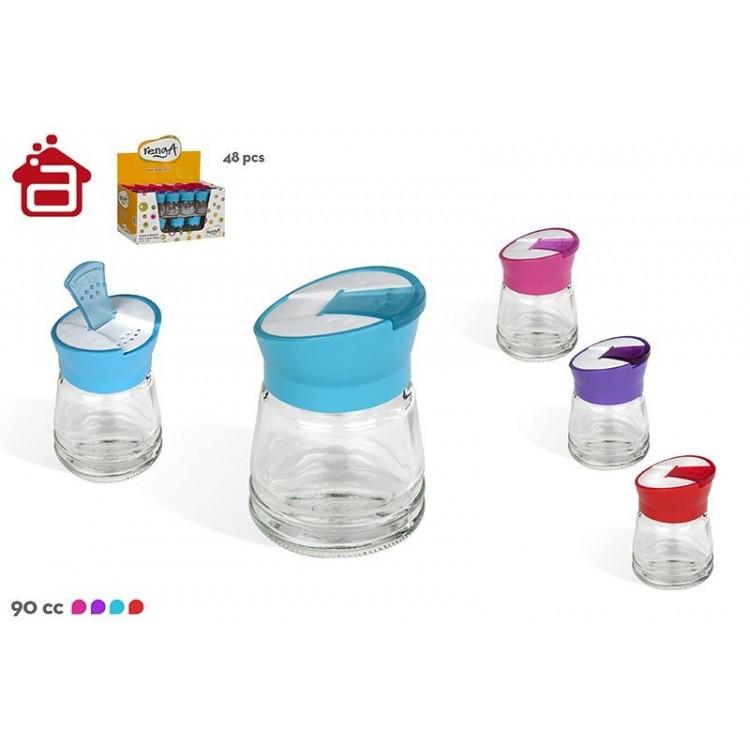 Salero de cristal con dosificador