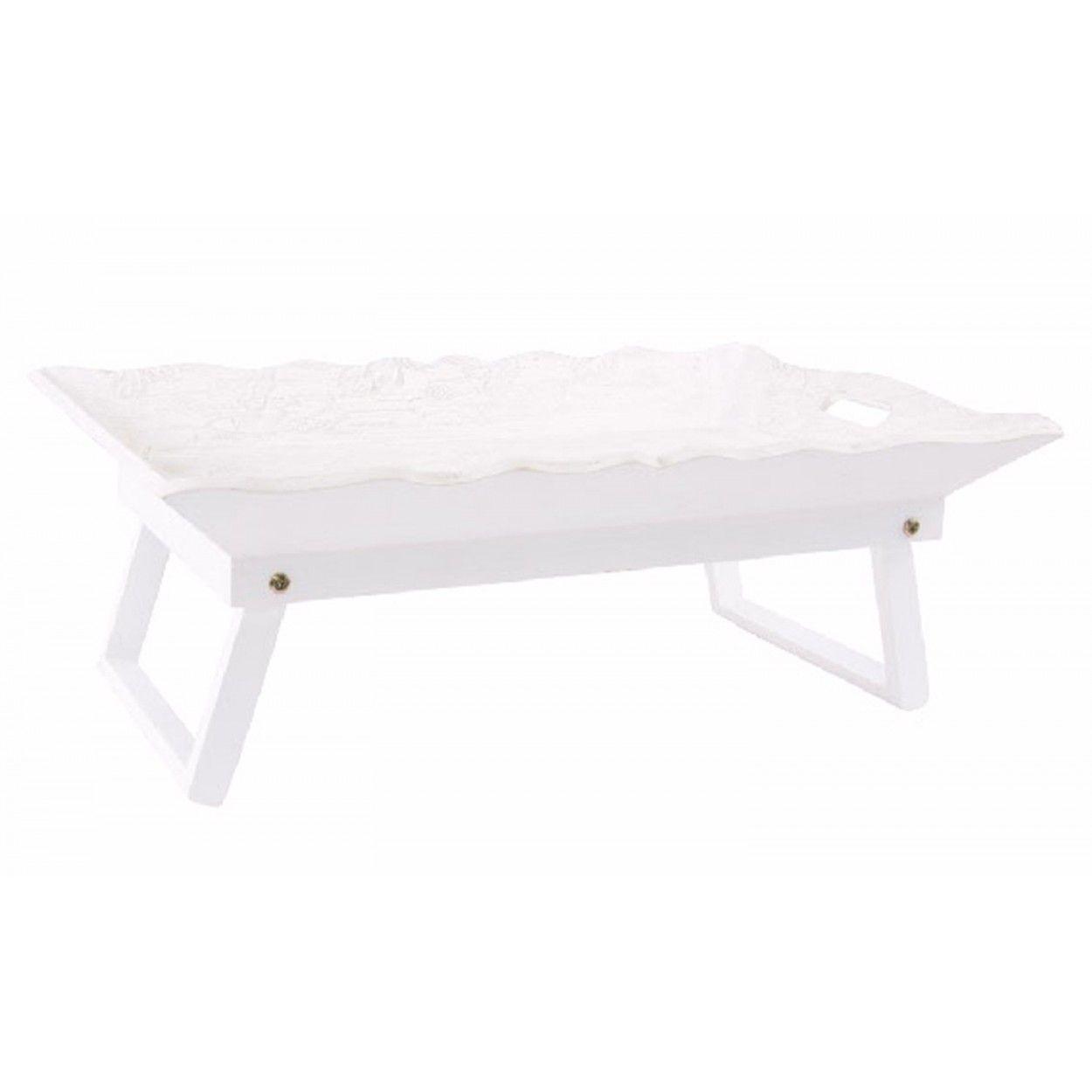 Bandea de madera con patas ideal para desayunos en la cama - Bandeja con patas ...