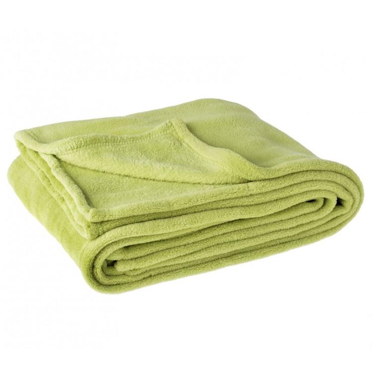 Manta de sofá microfibra verde (125x150)