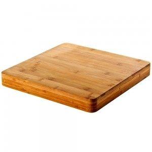 Tabla para pinchos de madera Natural de  Bambú (28x28x3 cm)