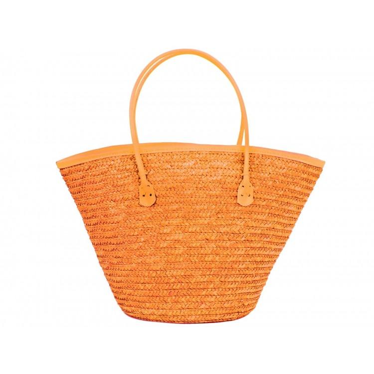 Bolso Capazo de fibra Natural (50x26x30 cm) Naranja