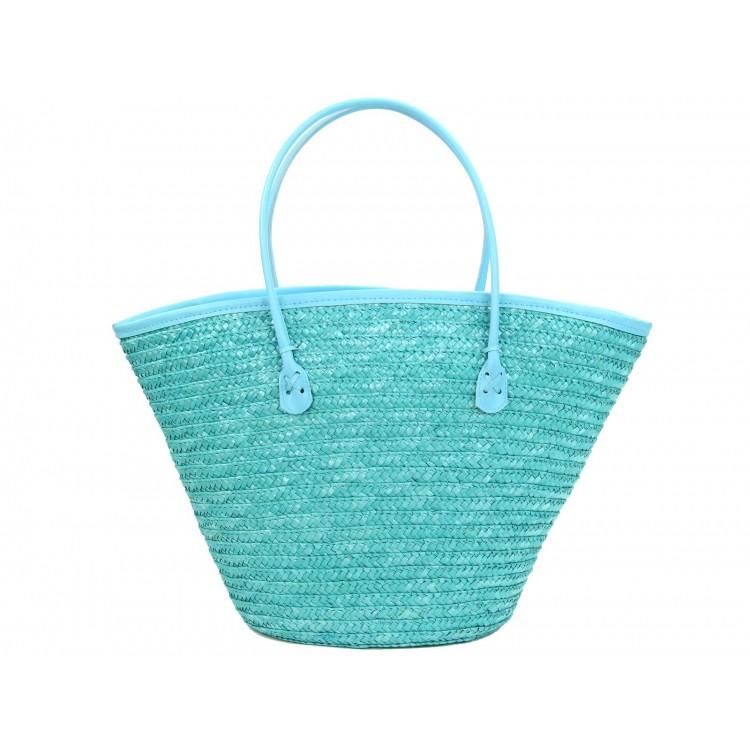Bolso Capazo de fibra Natural (50x26x30 cm) Azul Océano
