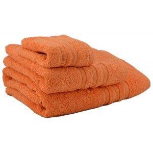 Toalla de ducha de algodón naranja (70x140)