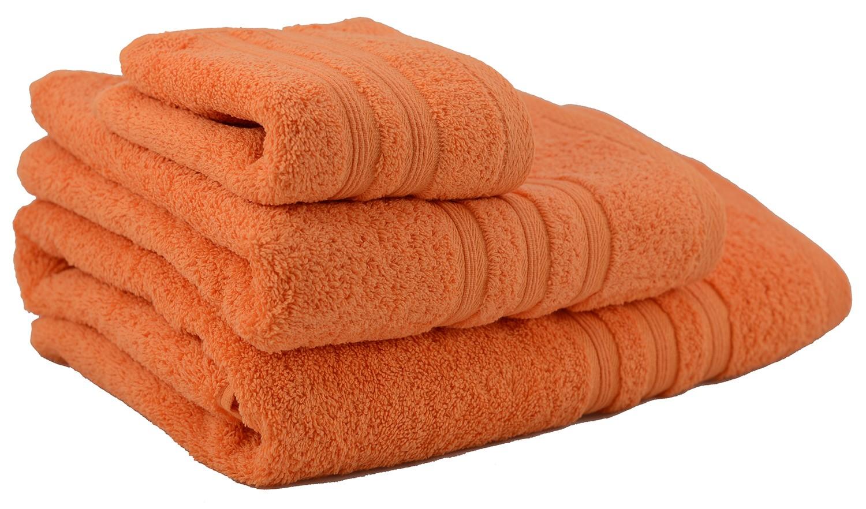 Towel shower cotton orange (70x140)
