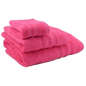 Towel shower cotton fuchsia (70x140)