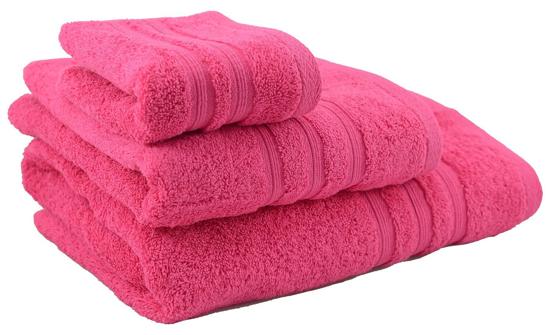 Toalla de ducha de algodón fucsia (70x140)