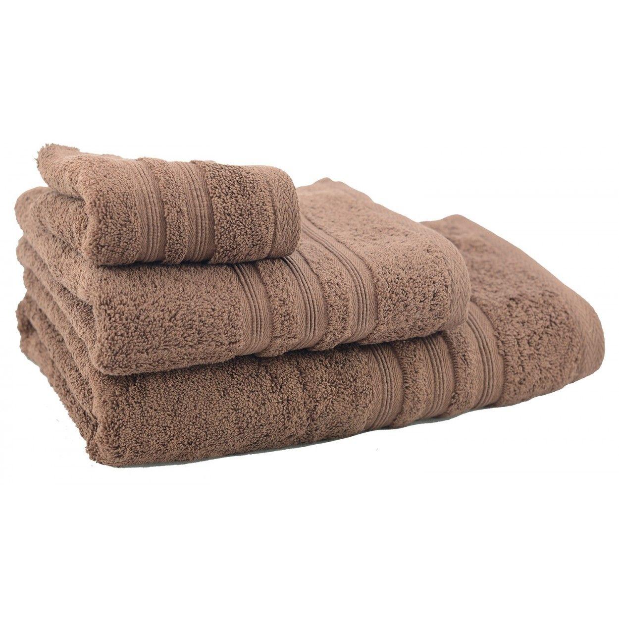 Toalla de ducha de algod n marr n chocolate 70x140 hogar y m s - Toallas de algodon ...