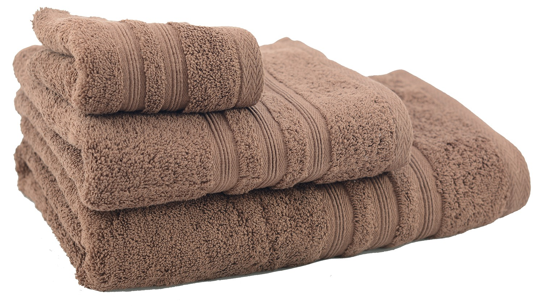 Toalla de ducha de algodón marrón chocolate (70x140)