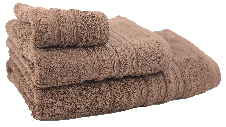 Towel shower cotton chocolate brown (70x140)