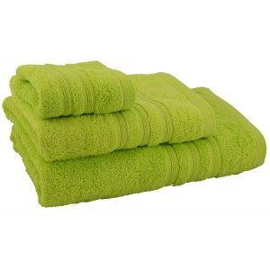 Toalla de ducha de algodón verde (70x140)