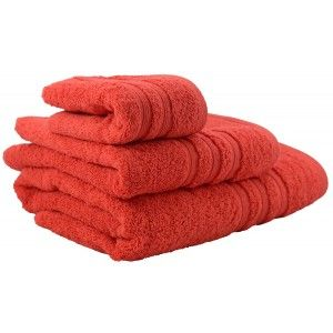 Towel shower cotton red (70x140)