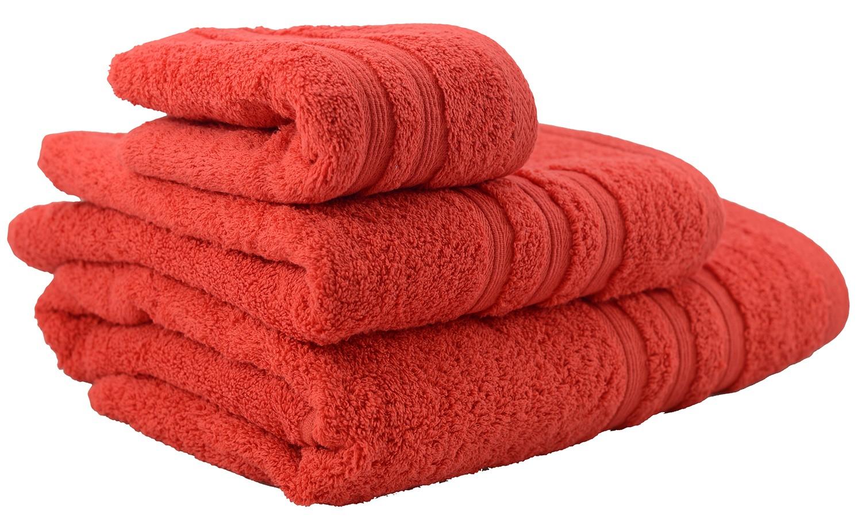 Toalla de ducha de algodón roja (70x140)