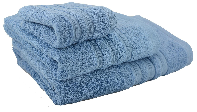 Towel shower cotton blue dark - (70x140)