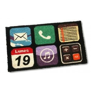 Doormat (70x40 cm) with rubber base. icons