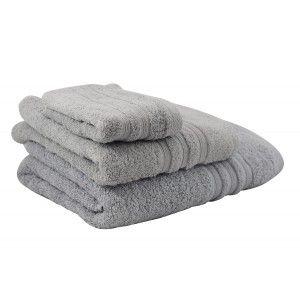 Toalla de baño lavabo gris (50x100)