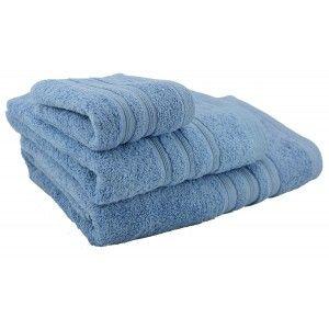 Toalla de baño lavabo azul oscuro (50x100)