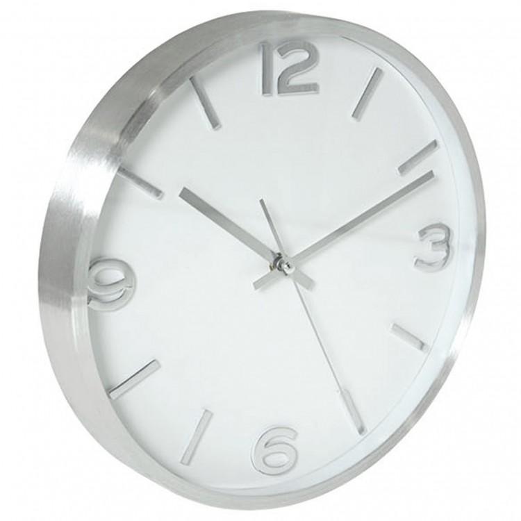 Reloj de Pared 30 cm para Cocina. Aluminio