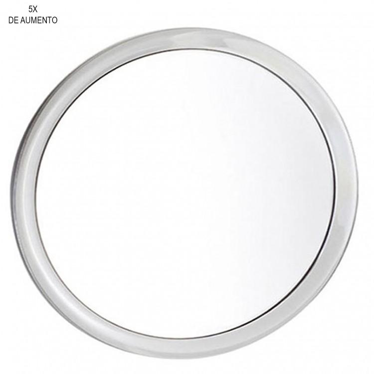 Espejo de ba o 5x de aumento con marco acr lico y for Espejos de bano con aumento