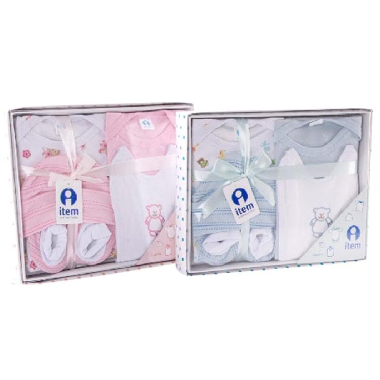 Conjunto de ropa para Bebé con diseño alegre (0-3 meses) realizada en Algodón