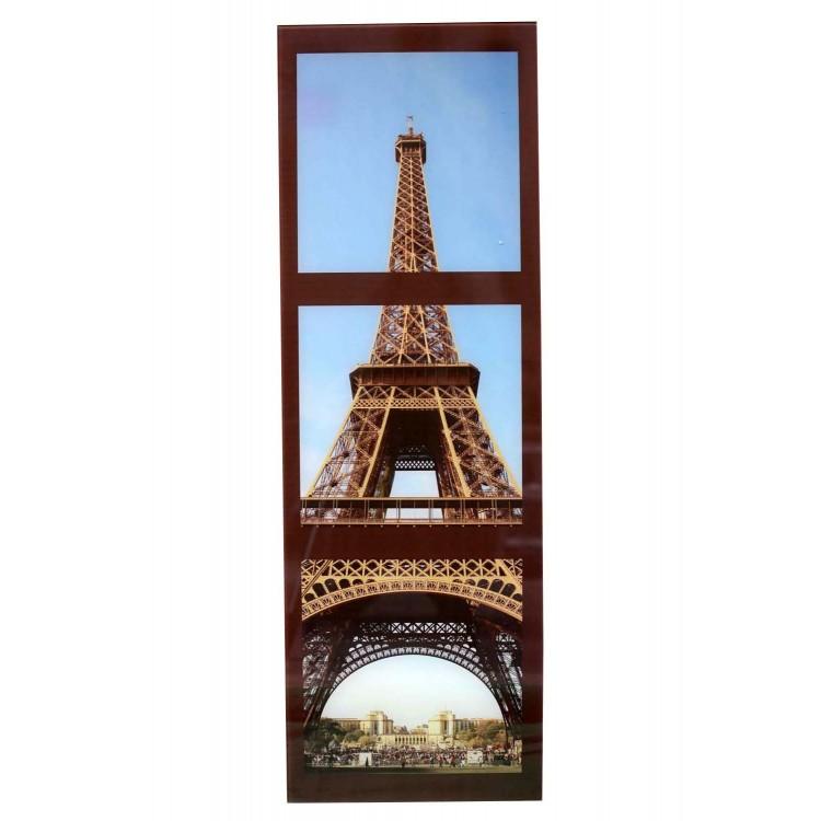 Cuadro decorativo fotoimpresión con cristal templado, ciudades con diseño original (30x90) Hogar y mas